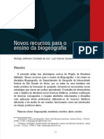 Novos Recursos Para o Ensino de Biogeografia - Lira, j. r. c.; Cestaro, l. a. [Caderno de Monitoria]