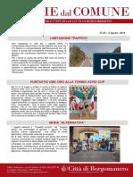Notizie Dal Comune di Borgomanero del 2 Agosto 2019