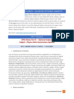 UPSC Physics Syllabus – IAS Mains Optional Subjects
