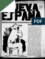 NUEVA ESPAÑA. Nº 29. 09-01-1931
