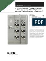 IM04302004E - Freedom 2100 Motor Control Center Installation and Maintenance Manual