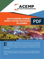 Safeguardig Human Rights Amidst Extractive Developments in Uganda