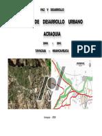 Plan de Desarrollo Urbano ACRAQUIA
