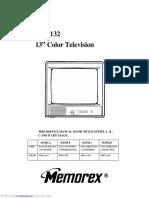 Manual de Servicio de TV MEMOREX MT1132