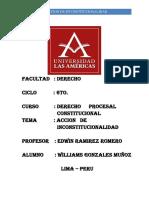 Derecho Procesal Constitucional (Acccion de Inconstitucionalidad)