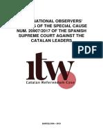 International Observers Reports ITW