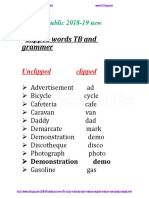 11th English Clipped Words Study Material English Medium