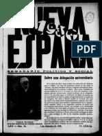 NUEVA ESPAÑA. Nº 25. 05-12-1930