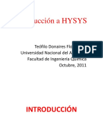 INTRODUCCION A HYSYS