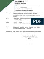 Surat Tugas - Pemilu Panwascam