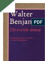 walter Benjamin dirección única