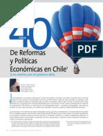 40 años De reformas políticas  y económicas en Chile