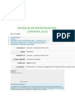 Quiz Tecnicas de Investigacion