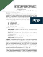 Documento de Reconocimiento de Hijuela de Terreno de Quien en Vida Fue Don Miguel Alave Alanoca
