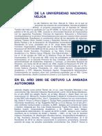 El Origen de La Universidad Nacional de Huancavelica