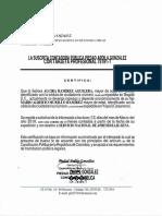 Certificado de Ingresos
