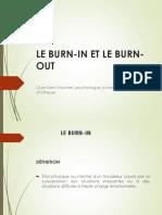 Le Burn-In Et Le Burn-out