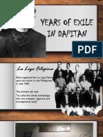 Years of Exile in Dapitan