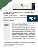 Ansiedad y Fuentes de Estrés en Estudiantes Universitarios