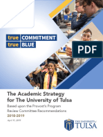 Academic Strategy for the University of Tulsa