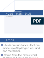 Acid Base Salts