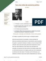 Karl Marx - Critica Economia Politica