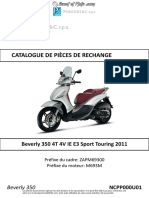 Catalogue de pièces de rechange Beverly 350ie