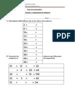 descomposición numerica