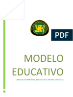 Modelo Educativo Uncp 2016