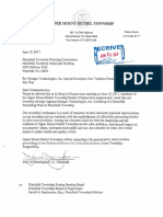 UBMT Synagro Opposition Letter to proposed Synagro facility in Plainfield Township