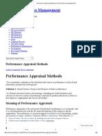 Performance Appraisal Methods _ Human Resources Management