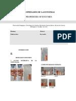 Informe Bioquimica Propiedades de Las Enzimas