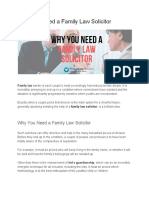 Why You Need a Family Law Solicitor