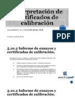 Capacitación en Interpretación de Certificados de Calibración