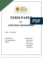 S.M. TERM PAPER