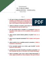CUESTIONARIO EL CABALLERO DE ARMADURA OXIDADA
