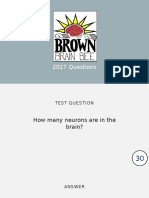 2017 Brain Bee Competition Questions