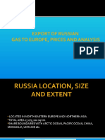 Export of Russian gas to Europe, prices and analysis