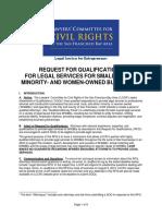 Legal Services RFQ