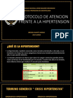 Protocolo de Atencion Frente a La Hipertension
