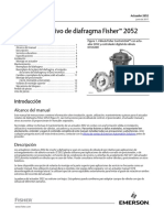Instruction Manual Actuador Rotativo de Diafragma Fisher 2052 Fisher 2052 Diaphragm Rotary Actuator Spanish Universal Es 123272