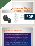 Aisladores en Baja y Media Tensión
