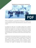 La Globalizacion y El Comportamiento Organizacional