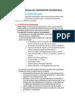 Estructura Manual Del Emprendedor Universitario