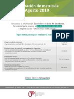 Informacion Matricula Agosto 2019 - Flyer3