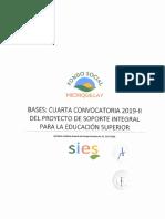 Bases Cuarta Convocatoria 2019-II