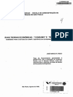 Duas Teorias Econômicas- Consumo e Retórica - Subsídios Para o Estudo Do Campo Científico Da Economia No Brasil