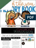 Elementary Memory Book Endoftheyear Freebie