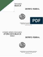Censo 1940 Distrito Federal
