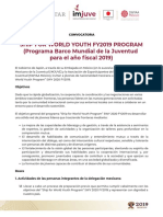 Convocatoria Ship for World Youth FY2019 - Programa Barco Mundial de La Juventud